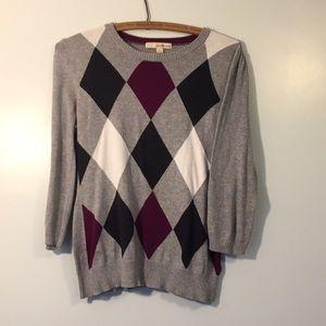 Forever 21 argyle sweater